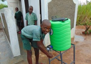 The Water Project:  Handwashing Outside The Boys Latrines