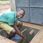 The Water Project: Elufafwa Community School -  Washing Hands At The Finished Water Tank