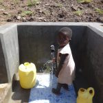The Water Project: Bungaya Community, Charles Khainga Spring -  Feeling The Spring Water