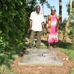 The Water Project: Sichinji Community, Kubai Spring -  Proud New Sanitation Platform Owners