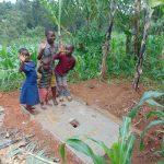 The Water Project: Shamakhokho Community, Imbai Spring -  Kids With Their Familys New Sanitation Platform