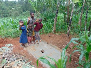 The Water Project:  Kids With Their Familys New Sanitation Platform
