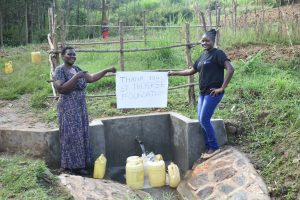 The Water Project:  Team Leader Emmah Wekesa And A Field Officer Saying Thanks
