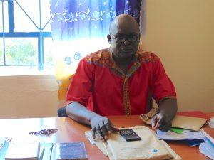 The Water Project:  Head Teacher Mr Charles Shikuku