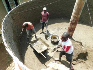 The Water Project:  Cementing Interior Tank Walls