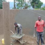 The Water Project: Musasa Primary School -  Plastering Inside The Tank