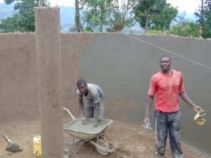 The Water Project:  Plastering Inside The Tank