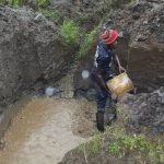 The Water Project: Emmachembe Community, Magina Spring -  Concrete Foundation Laying