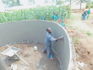 The Water Project:  Plastering Inside Of Tank