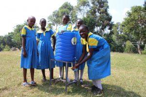 The Water Project:  Girls Handwashing