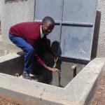 The Water Project: Ematiha Secondary School -  Enjoying The Rainwater