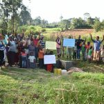 The Water Project: Sichinji Community, Kubai Spring -  Whole Community Says Thank You