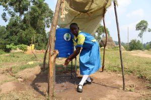 The Water Project:  Enjoying The Shade While Handwashing