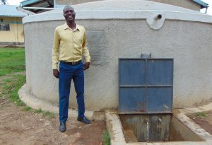 The Water Project:  Teacher Stand Proud With The Rain Tank
