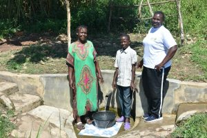 The Water Project:  Josephine Nicholas And Team Leader Emmah At Indangasi Spring