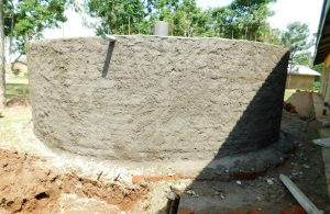 The Water Project:  Outer Walls Get Cement