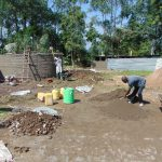 The Water Project: Ematiha Secondary School -  Construction Materials Surrounding Rain Tank
