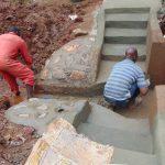 The Water Project: Mushina Community, Shikuku Spring -  Cement And Plaster Work