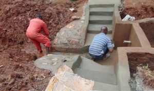 The Water Project:  Cement And Plaster Work