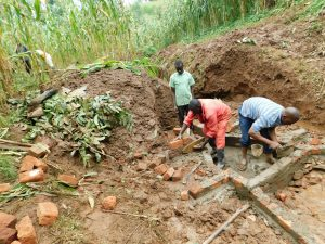 The Water Project:  Brickwork On Spring Foundation