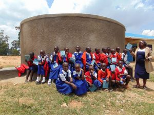 The Water Project:  Students And Staff Pose With The New Tank