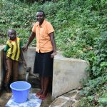 The Water Project: Mungakha Community, Asena Spring -  Litrelius Bordar And Gladys Ndunde