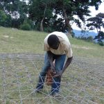 The Water Project: Musasa Primary School -  Weaving Dome Wire Form