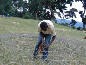The Water Project:  Weaving Dome Wire Form