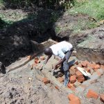 The Water Project: Bung'onye Community, Shilangu Spring -  Bricklaying