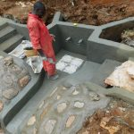 The Water Project: Mushina Community, Shikuku Spring -  Plaster And Tile Setting
