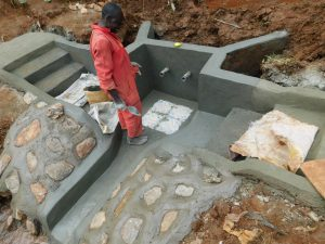 The Water Project:  Plaster And Tile Setting