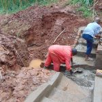 The Water Project: Hirumbi Community, Khalembi Spring -  Stairs Take Shape
