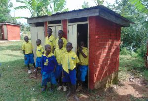 The Water Project:  Boys Lined Up At Their Latrines