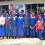 The Water Project: Kapkoi Primary School -  Sudents Outside Class