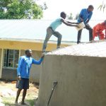 The Water Project: Enyapora Primary School -  Dome Cementing Commences