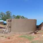 The Water Project: Goibei Primary School -  Rain Tank Walls Take Shape