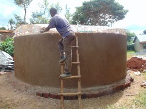 The Water Project:  Attaching The Dome Form To The Tank