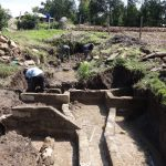 The Water Project: Bungaya Community, Charles Khainga Spring -  Wall Construction