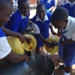 The Water Project: St. Teresa's Isanjiro Girls Secondary School -  Combining Water For Storage
