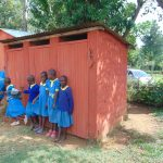 The Water Project: Saride Primary School -  Girls At Their Latrine Block