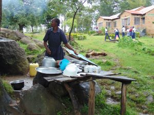 The Water Project:  School Cook Washing Dishes At The Dishrack