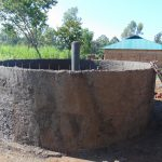 The Water Project: Mukangu Primary School -  Rain Tank Walls