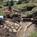 The Water Project: Bungaya Community, Charles Khainga Spring -  Rub Wall Construction
