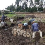 The Water Project: Bungaya Community, Charles Khainga Spring -  Working As A Team