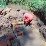 The Water Project: Shamakhokho Community, Imbai Spring -  Brick Setting Begins