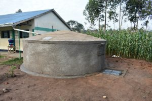 The Water Project:  Completed Rain Tank