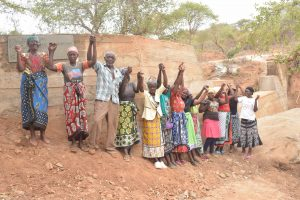 The Water Project:  Shg Members At Their New Dam