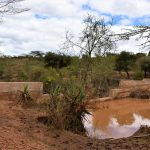 The Water Project: Kala Community B -  Water Behind Sand Dam