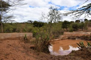The Water Project:  Water Behind Sand Dam