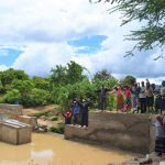 The Water Project: Mbiuni Community A -  Celebrating The New Well And Dam